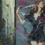 Curiosité Urbaine 170 cm x 100 cm acrylique sur toile 2008