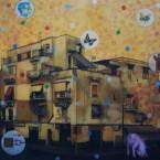Offre visuelle 2 100 cm x 100 cm acrylique sur toile 2007