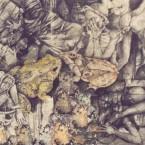 Party puppen dessin au fusain sur papier 250 cm x 140 cm 1999