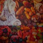 des images à la boucheacrylique sur toile200 cm x 200 cm 2011
