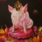 gastronomiquement incorrectacrylique sur toile180 cm x 150 cm 2011