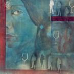 sans titre 140x140cm acrylique sur toile 2003