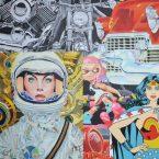 Série Images dévorantes, acrylique sur toile, 100cm x 100cm, 2018.